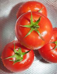 Tomatos on colander