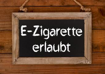 E-Zigarette erlaubt