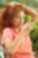 Blurred of women are using a phone