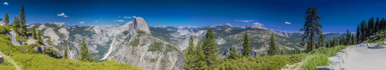 Yosemite National Park Panoramic View Taken From Glacier Point