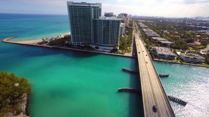 Aerial video Bal Harbour Florida 4k