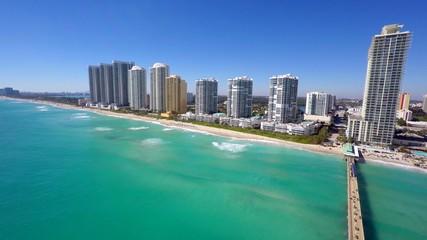 Beach architecture aerial video 4k