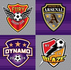 Soccer club emblem patches