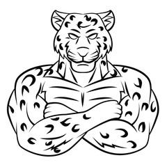 Cheetah illustration on white