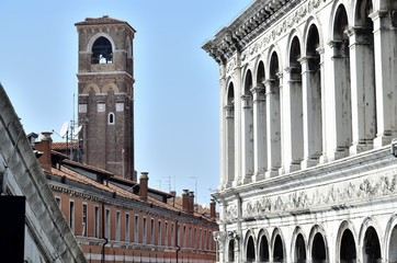Ancient typical buildings of Venice.