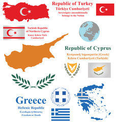 Cyprus Turkey and Greece