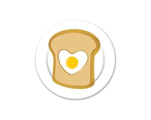 Egg in a basket bread