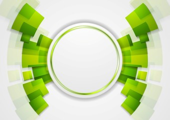 Green shiny hi-tech background