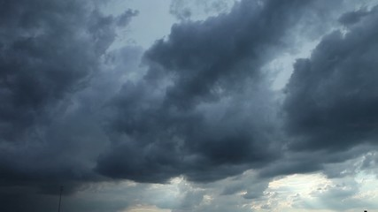 Dramatic storm clouds in timelapse