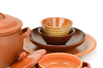 Set clay utensils