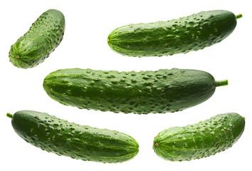 Cucumber set on white