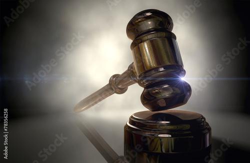 Leinwanddruck Bild Justice Gavel