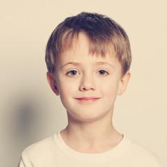 Smiling little boy cute face