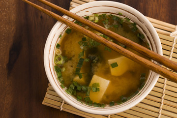 Japanese miso soup