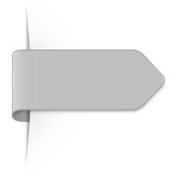 Langer hellgrauer Sticker Pfeil mit Schatten und Textfreiraum