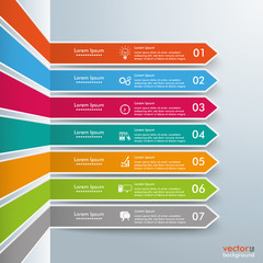 Colored Broken Arrows Outlline Infographic