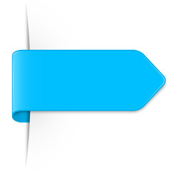 Langer hellblauer Sticker Pfeil mit Schatten und Textfreiraum