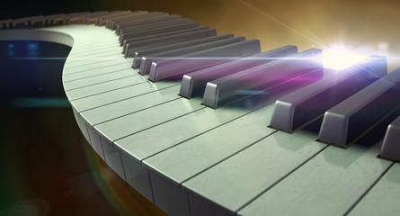 Moody Curvy Piano Keys