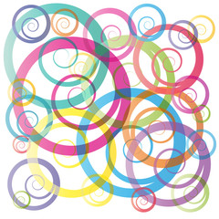 Vector curly background