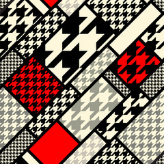 houndtooth geometric pattern