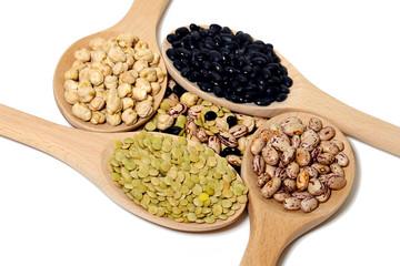 various types of legumes lentil beans Peas fagioini