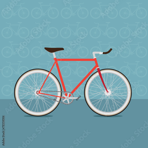 vector colorful bicycles of various types