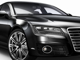 Fototapety Black car - cropped shot isotlated on white