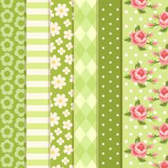 Set of green patterns