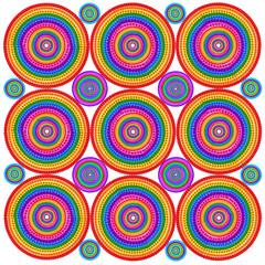 Floral psychodelic targets background