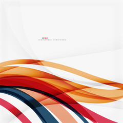 Red and orange color lines composition