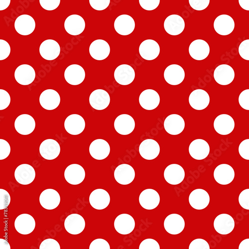 Cotton fabric Seamless polka dot pattern for Your design