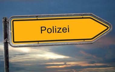 Strassenschild 19 - Polizei