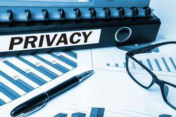 privacy concept on folder