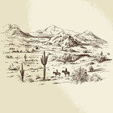 wild west - hand drawn illustration - 78359882