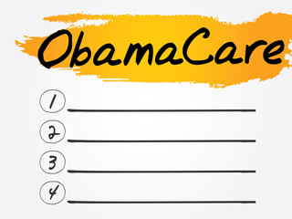 ObamaCare Blank List, vector concept background