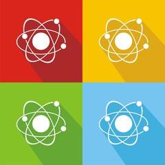 Iconos átomo colores sombra
