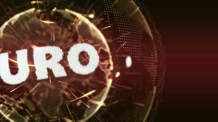 World News Euro currency Intro Teaser orange red