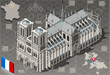 Isometric Infographic Notre Dame de Paris - HD Quality - 78361022