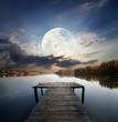 Pier under moon - 78361074