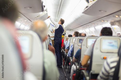 Papiers peints Avion à Moteur Steward on the airplane.