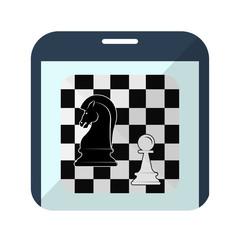 Icono ajedrez en smartphone