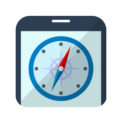 Icono brujula en smartphone