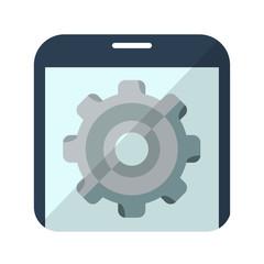 Icono configuracion en smartphone