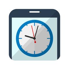 Icono reloj en smartphone