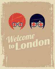 welcome to London poster with man and woman