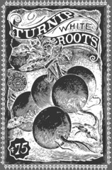 Vintage Greengrocer - Turnip Advertising Blackboard