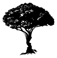 Faces tree concept