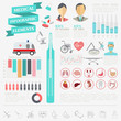 Medical and healthcare infographic, elements for creating infogr
