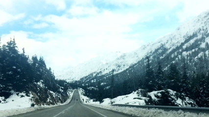 Road with beautiful views of the Mountains 1
