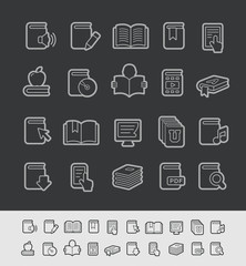 Book Icons -- Black Line Series